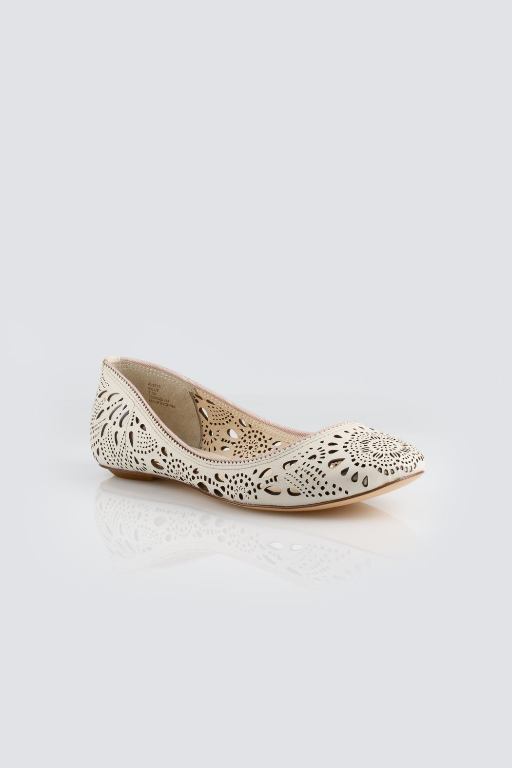 Aerin Ivory Flats - Side Cropped Image