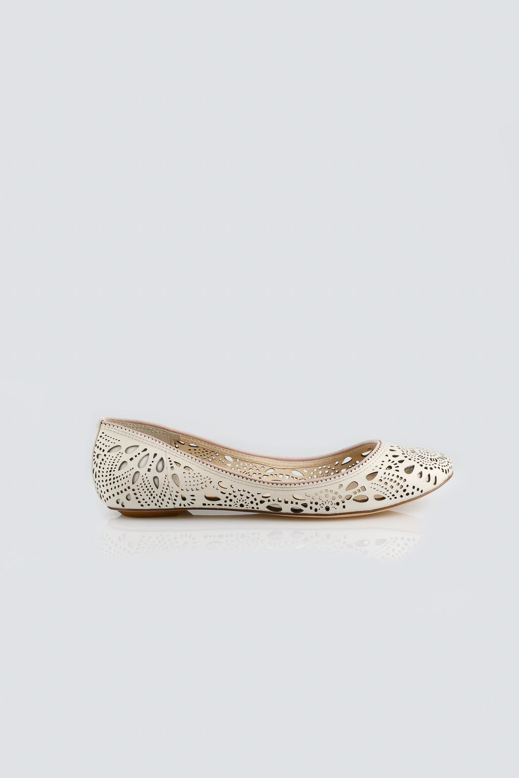 Aerin Ivory Flats - Front Full Image