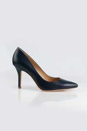 Aerin Navy Heel - Front full body