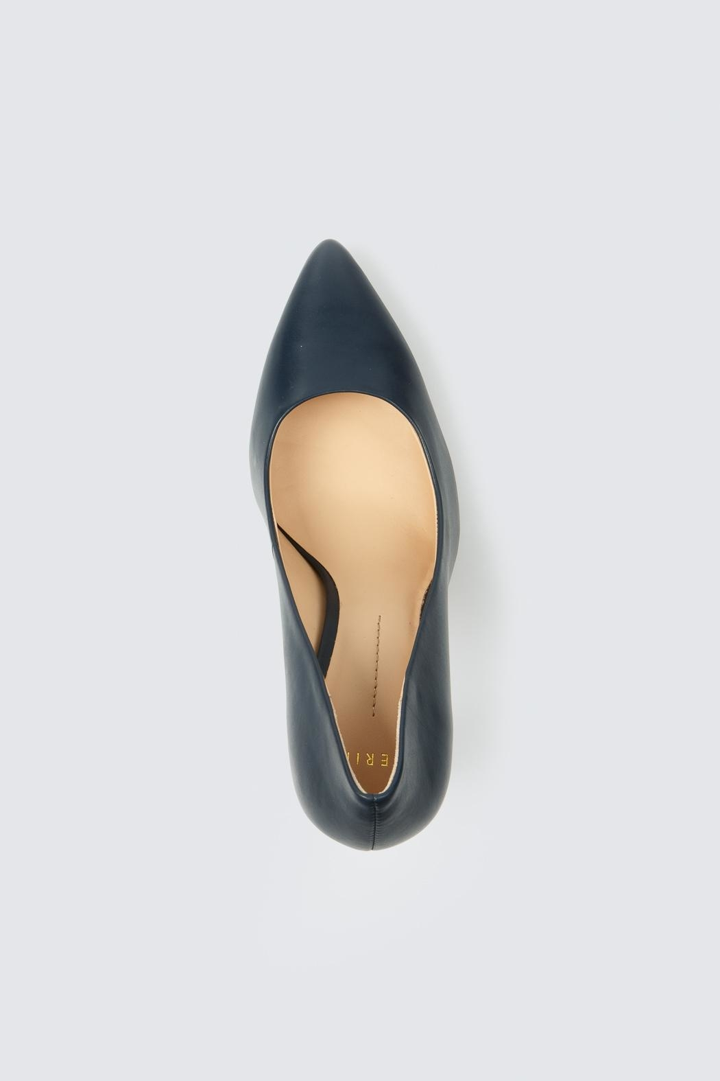 Aerin Navy Heel - Back Cropped Image
