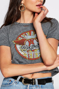 Daydreamer Aerosmith Crop Tee - Alternate List Image