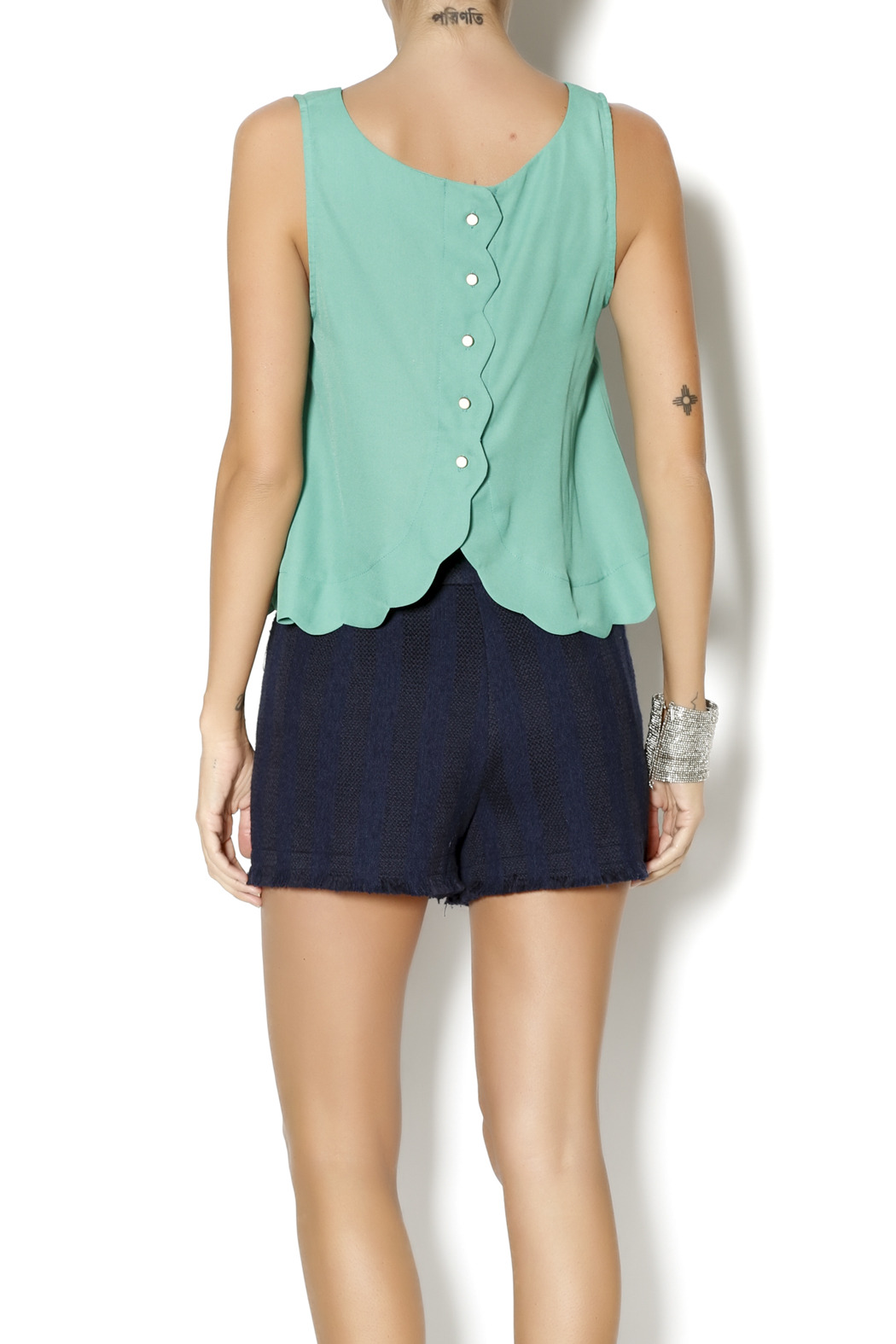 Byrds Mint Fashionable Tank - Back Cropped Image