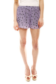 Shoptiques Product: Cross Print Shorts - Front cropped