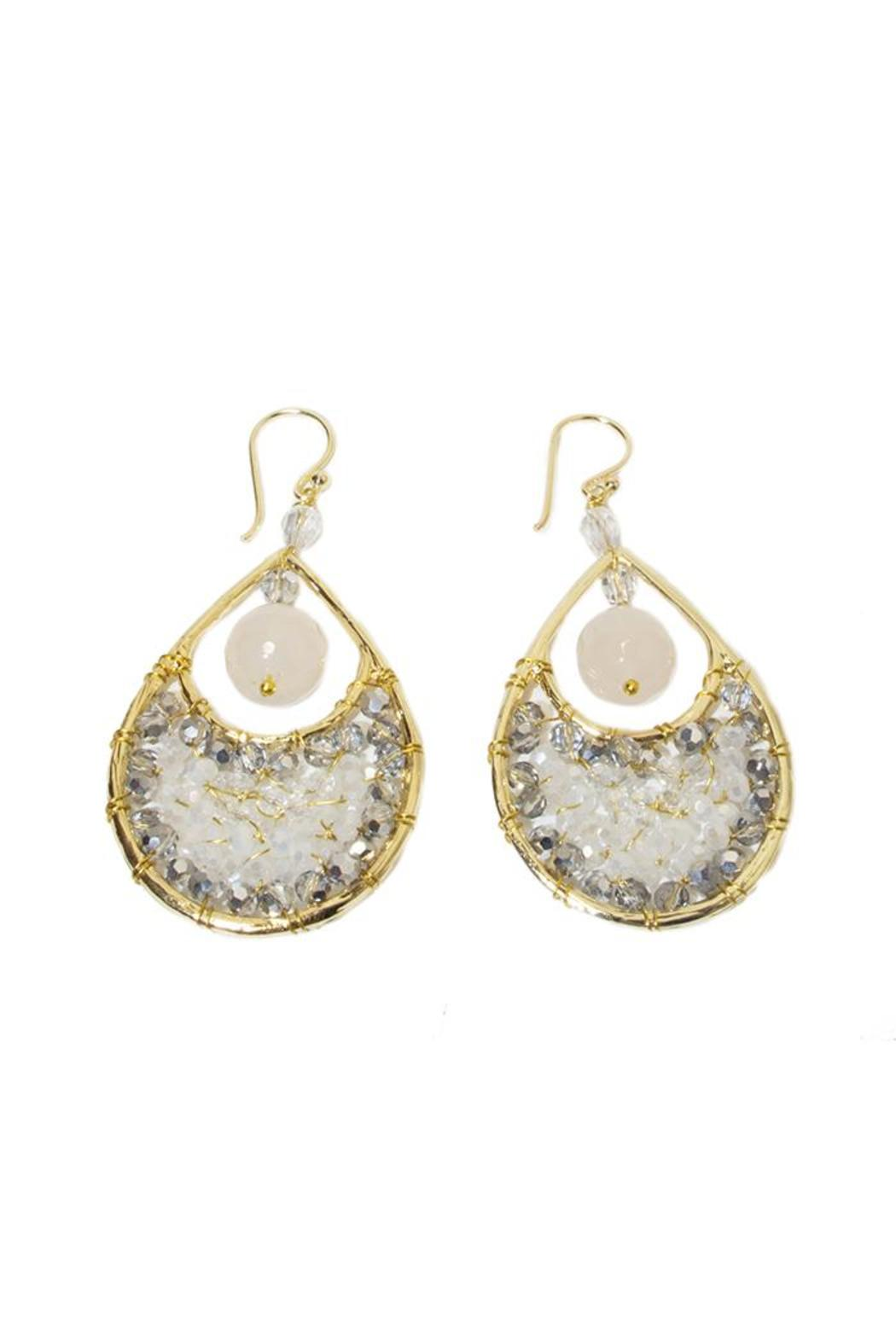 Ananda Handcrafted Crystal Earrings - Main Image
