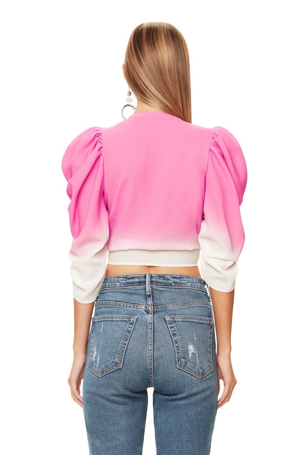 AFRM Willia Pink Ombre - Back Cropped Image