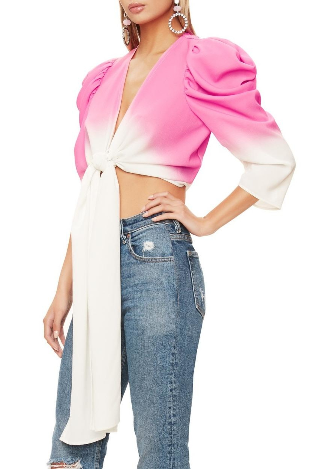 AFRM Willia Pink Ombre - Side Cropped Image