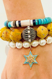 The Woods Fine Jewelry  African Yellow with Pearl Ball - Product Mini Image