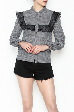 Shoptiques Product: Checkered Lace Top