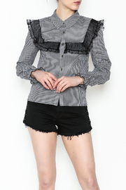 After Market Checkered Lace Top - Product Mini Image