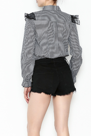 After Market Checkered Lace Top - Back cropped