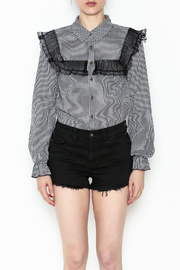 After Market Checkered Lace Top - Front full body