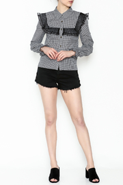 After Market Checkered Lace Top - Side cropped