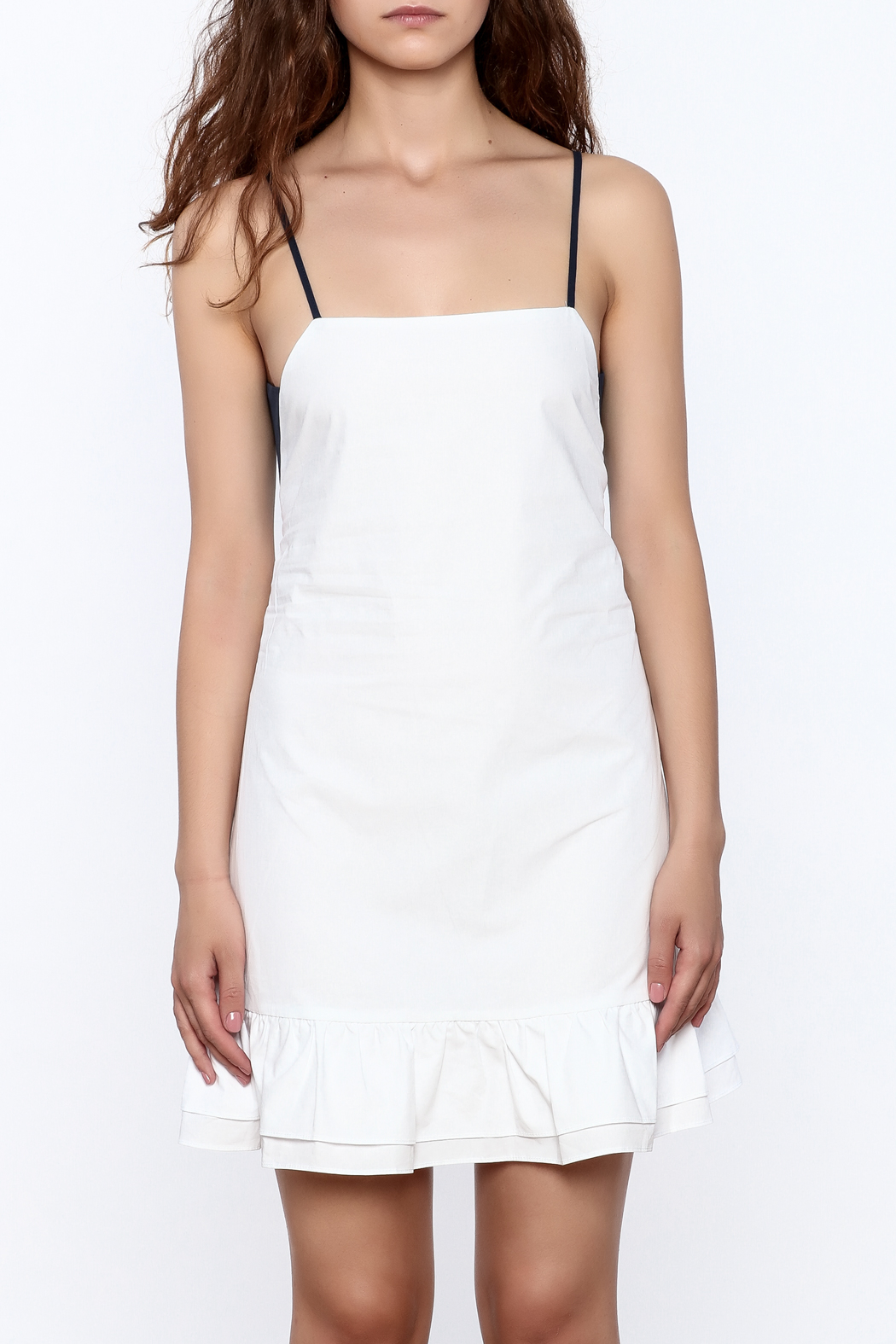 After Market Contrast Back Dress - Side Cropped Image