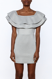 After Market Off Shoulder Ruffle Dress - Side cropped