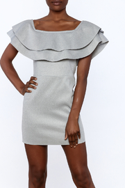 After Market Off Shoulder Ruffle Dress - Front cropped