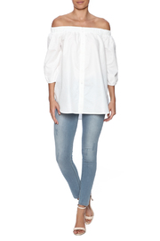 After Market Off Shoulder Tunic Top - Front full body