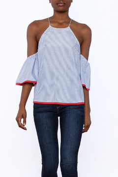 Shoptiques Product: Red Border Top