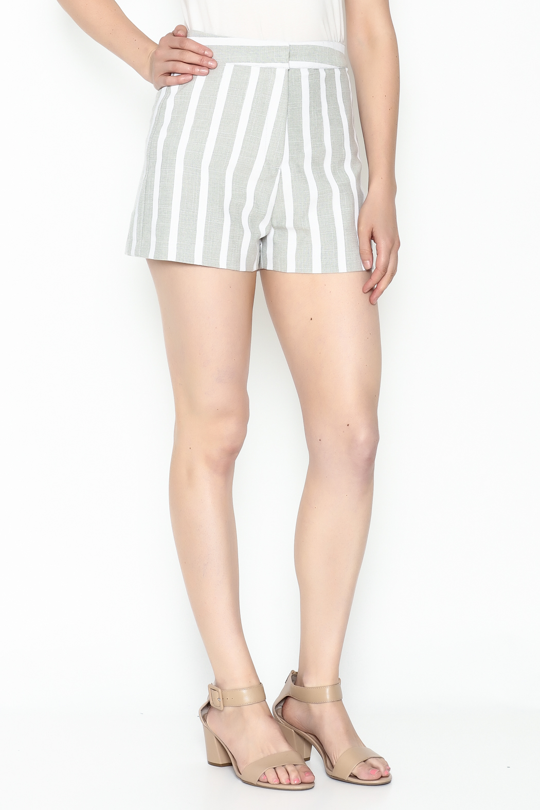 After Market Striped Grey Shorts - Main Image