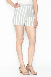 After Market Striped Grey Shorts - Front cropped