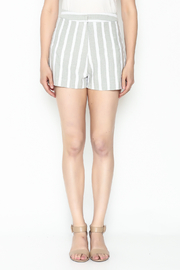 After Market Striped Grey Shorts - Front full body