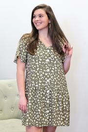 easel After My Heart Button Down Dress - Product Mini Image
