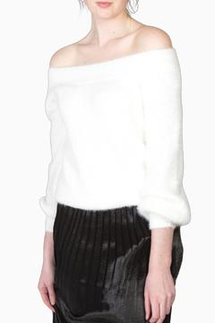 Shoptiques Product: Fuzzy Off Shoulder Sweater