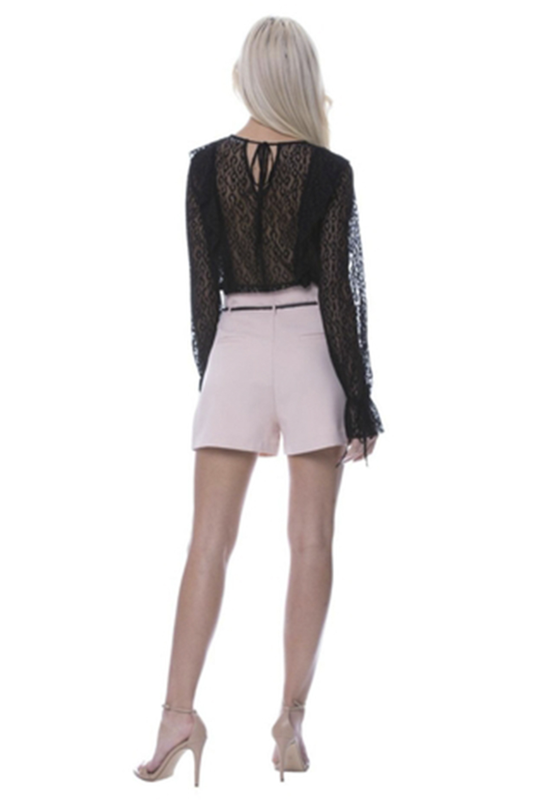 After Market High Waist Shorts - Front Full Image
