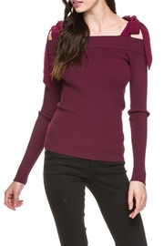 After Market Knit Cold Shoulder - Front cropped