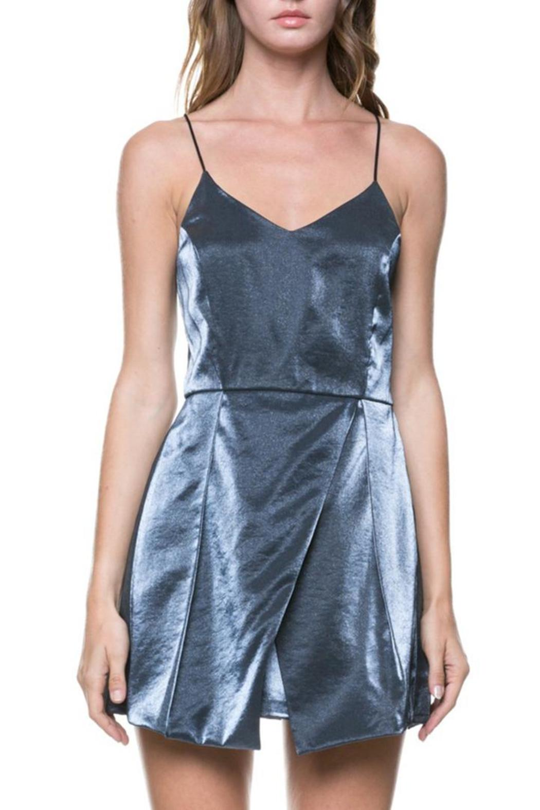 After Market Metallic Mini Dress - Front Cropped Image