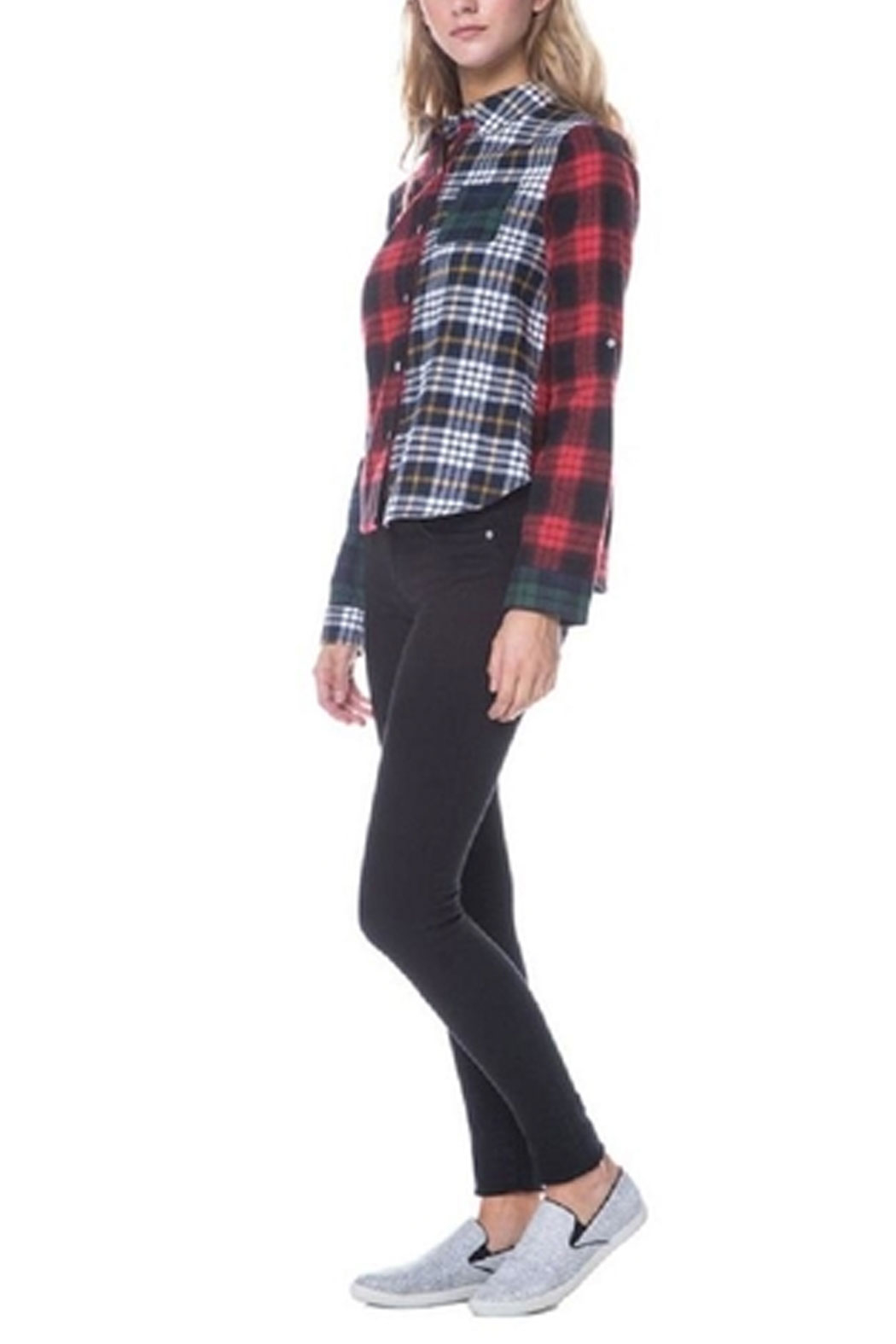 After Market Mixed Plaid Shirt - Front Full Image