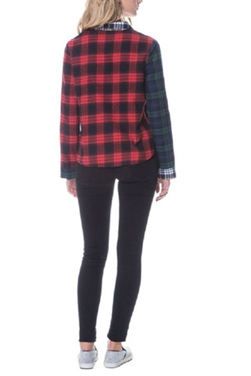 After Market Mixed Plaid Shirt - Side Cropped Image