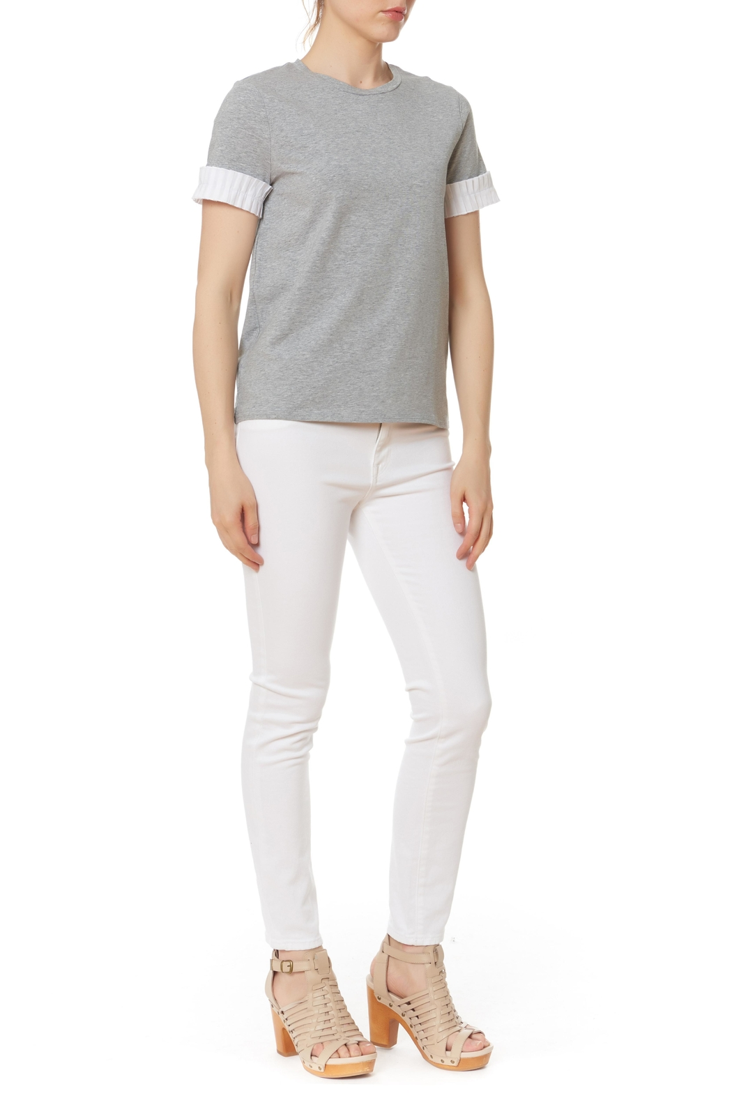 After Market Pleat Cuff Top - Main Image