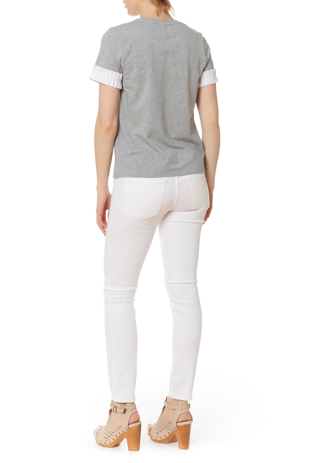 After Market Pleat Cuff Top - Front Full Image
