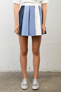 After Market Pleated Denim Skirt - Product List Image