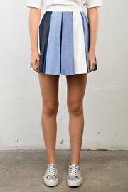 After Market Pleated Denim Skirt - Product Mini Image