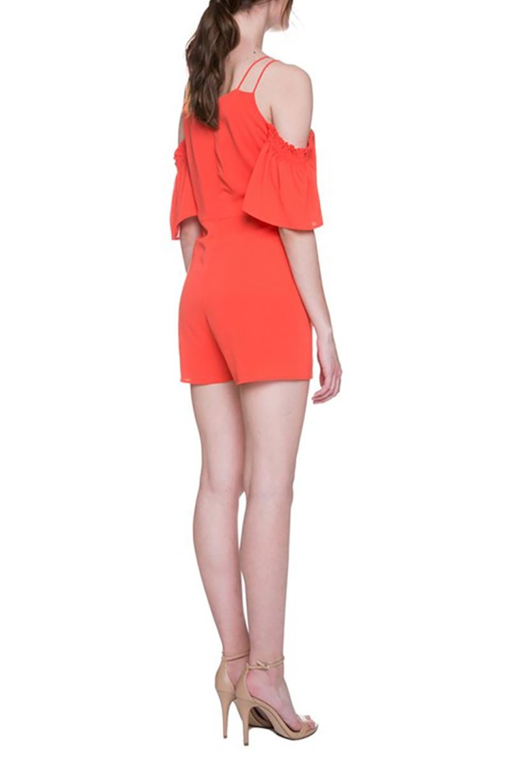After Market Tomato Cutout Romper - Back Cropped Image