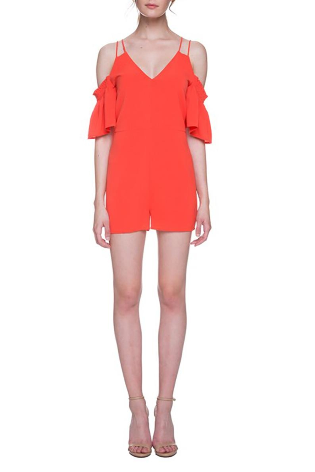 After Market Tomato Cutout Romper - Front Full Image