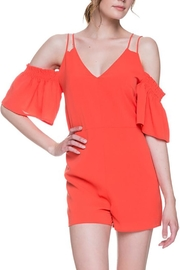After Market Tomato Cutout Romper - Product Mini Image