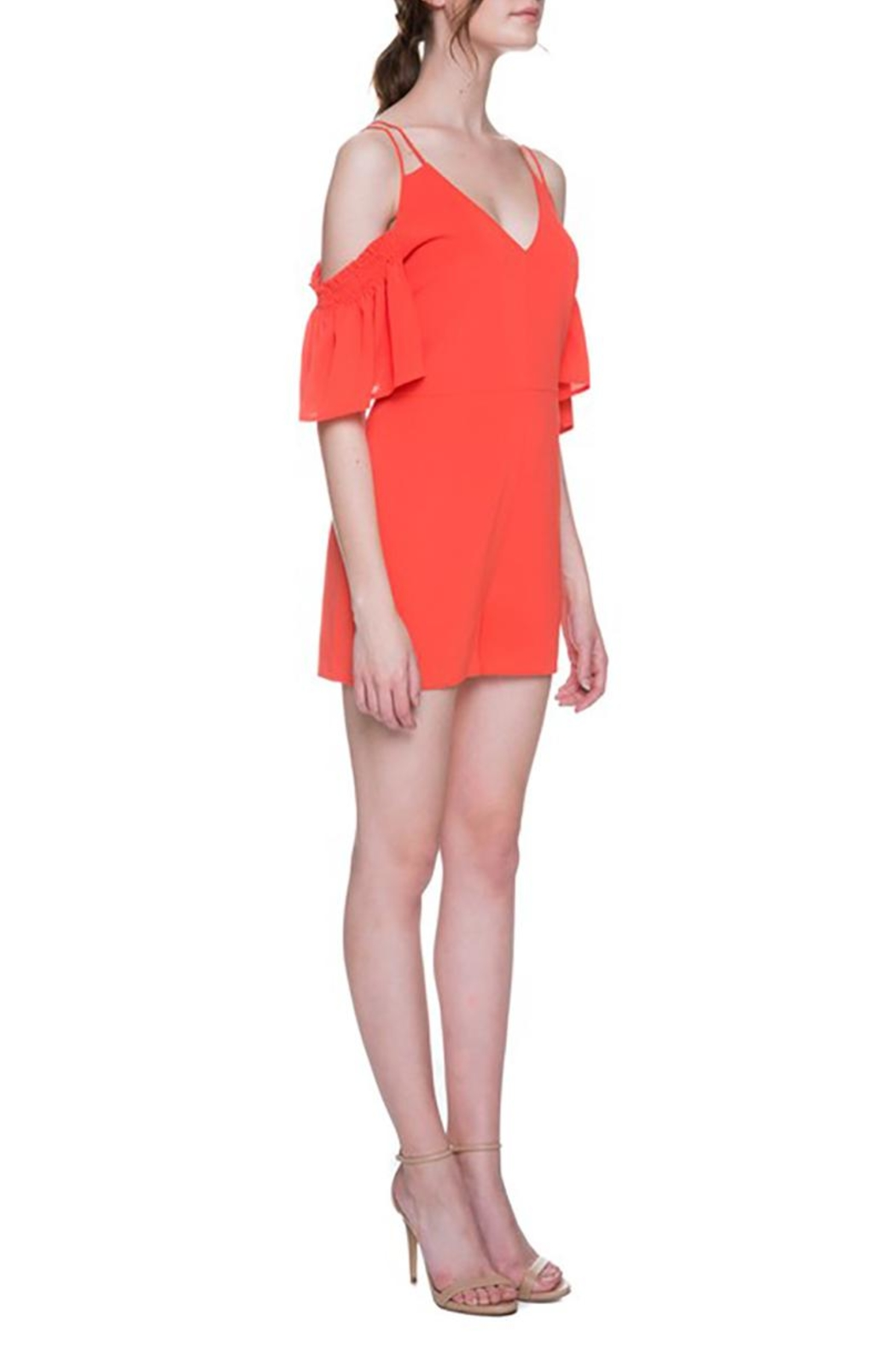 After Market Tomato Cutout Romper - Side Cropped Image