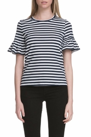 After Market Ruffle Striped Sleeve Tee - Front cropped