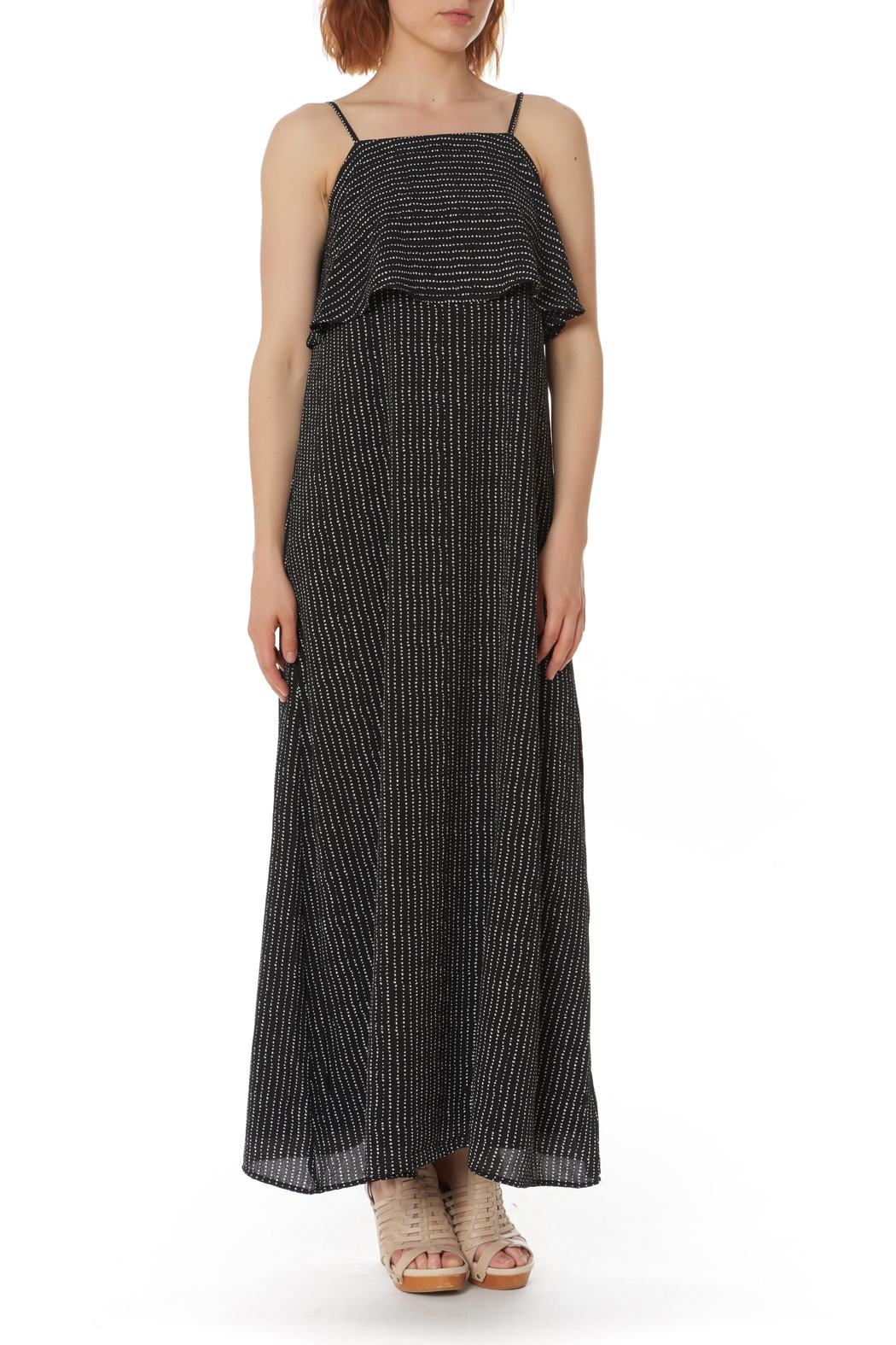 After Market Ruffled Maxi Dress - Front Cropped Image