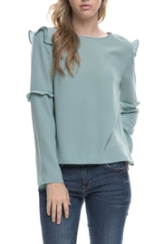 After Market Seafoam Ruffle Top - Front cropped