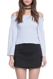 After Market Smocked Off Shoulder Top - Front cropped