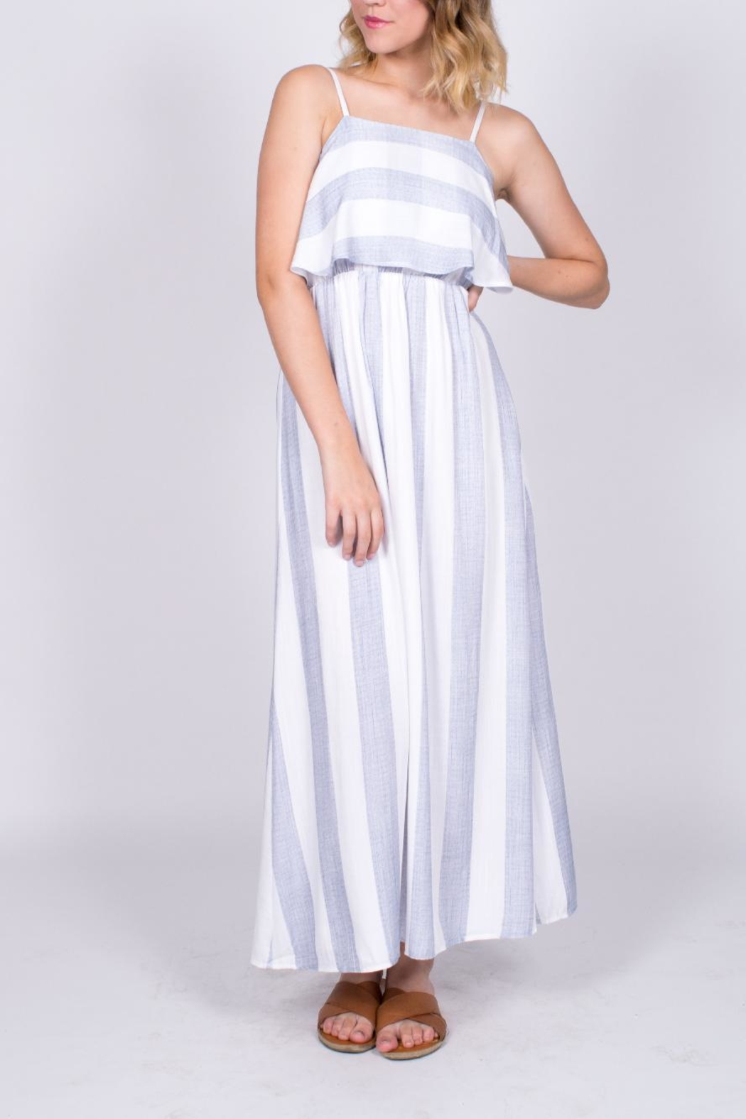 After Market Striped Maxi Dress - Main Image