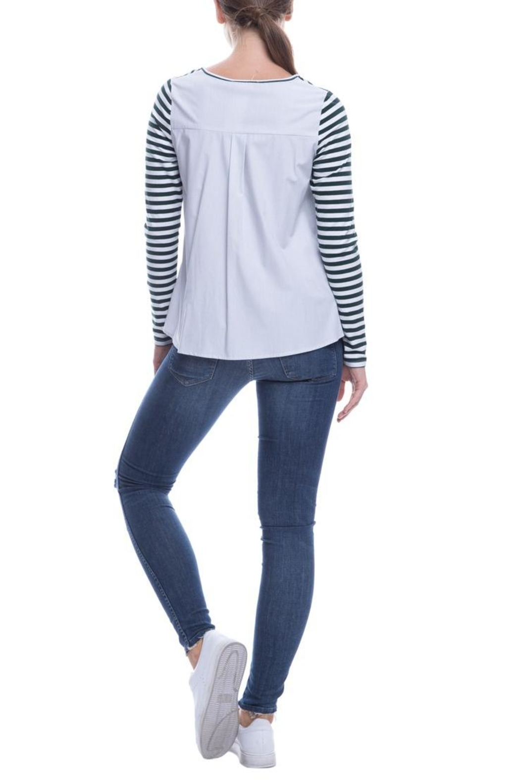 After Market Striped Ruffle Top - Side Cropped Image