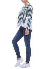 After Market Striped Ruffle Top - Back cropped