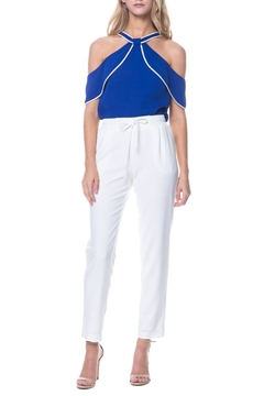 Shoptiques Product: White Drawstring Jogger Pant