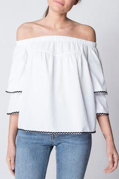 After Market White Off The Shoulder Top - Product List Image