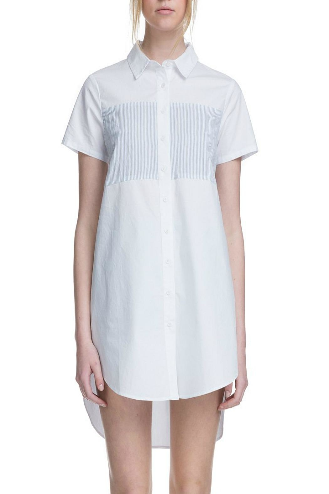 After Market White Yoke Shirtdress - Main Image