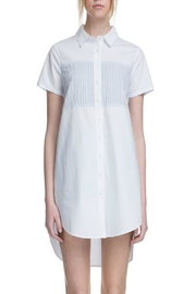 After Market White Yoke Shirtdress - Product Mini Image